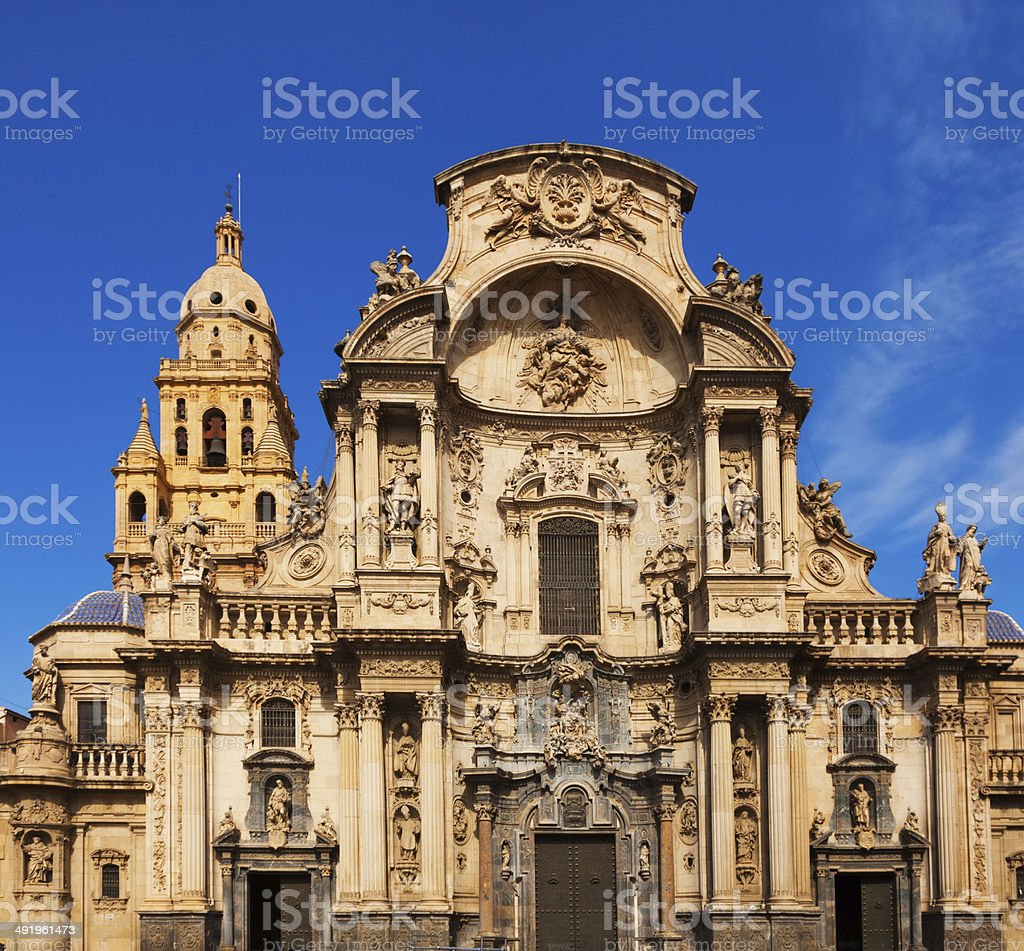 Cathedral de Santa Maria. Murcia stock photo