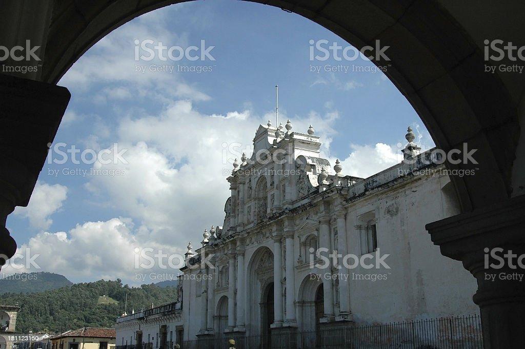 Cathedral de Santiago Antigua Guatemala stock photo