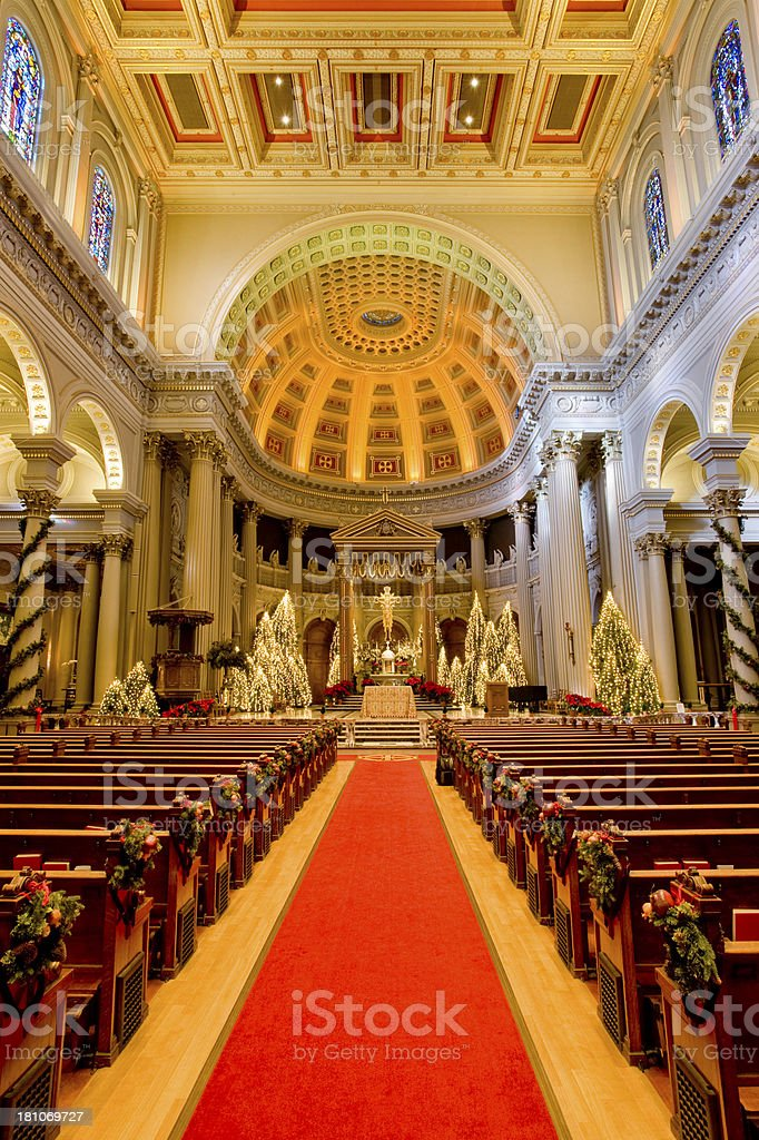 Cathedral, Decorated for Christmas royalty-free stock photo