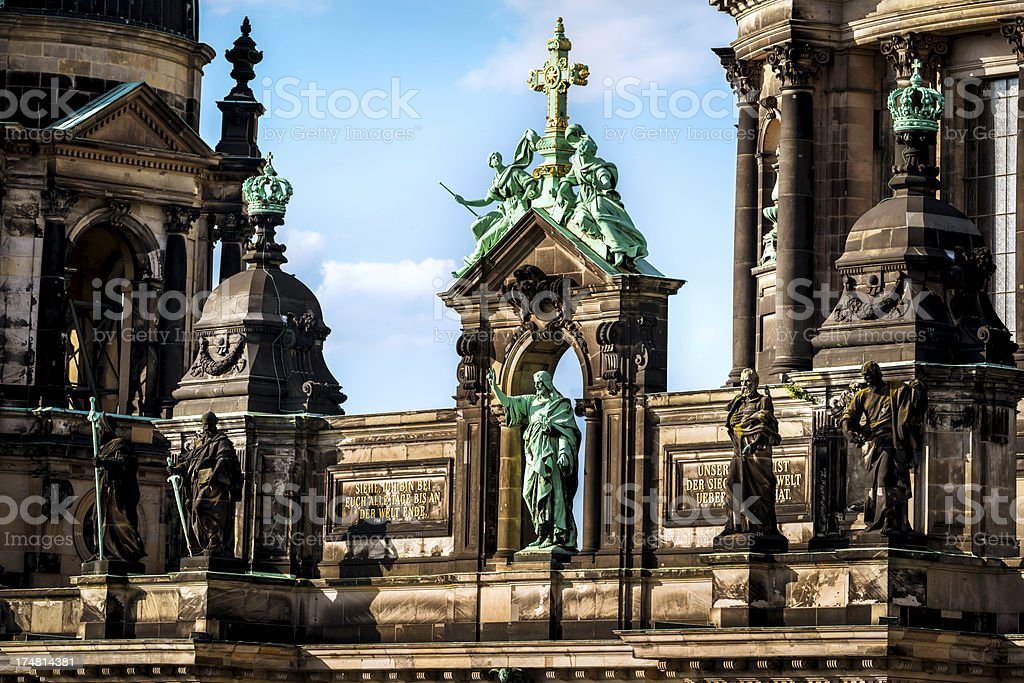 Cathedral Detail in Berlin, Germany royalty-free stock photo