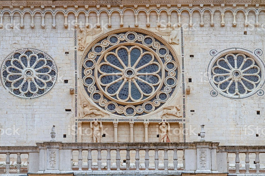 cathedral detail in  Spoleto stock photo