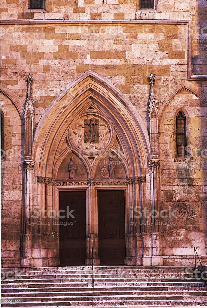 Cathedral Entrance in Regensburg royalty-free stock photo