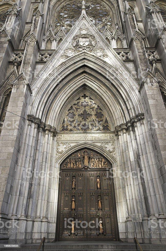 Cathedral entrance stock photo