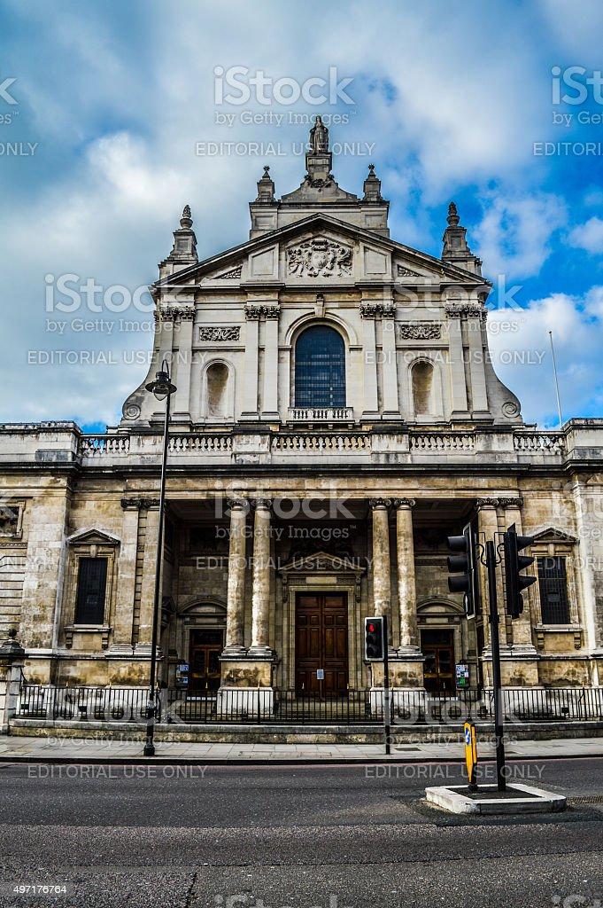 Cathedral exterior - London, UK stock photo