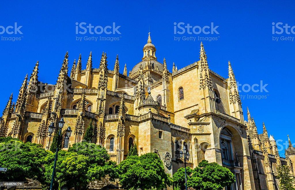 Cathedral Exterior - Segovia, Spain stock photo