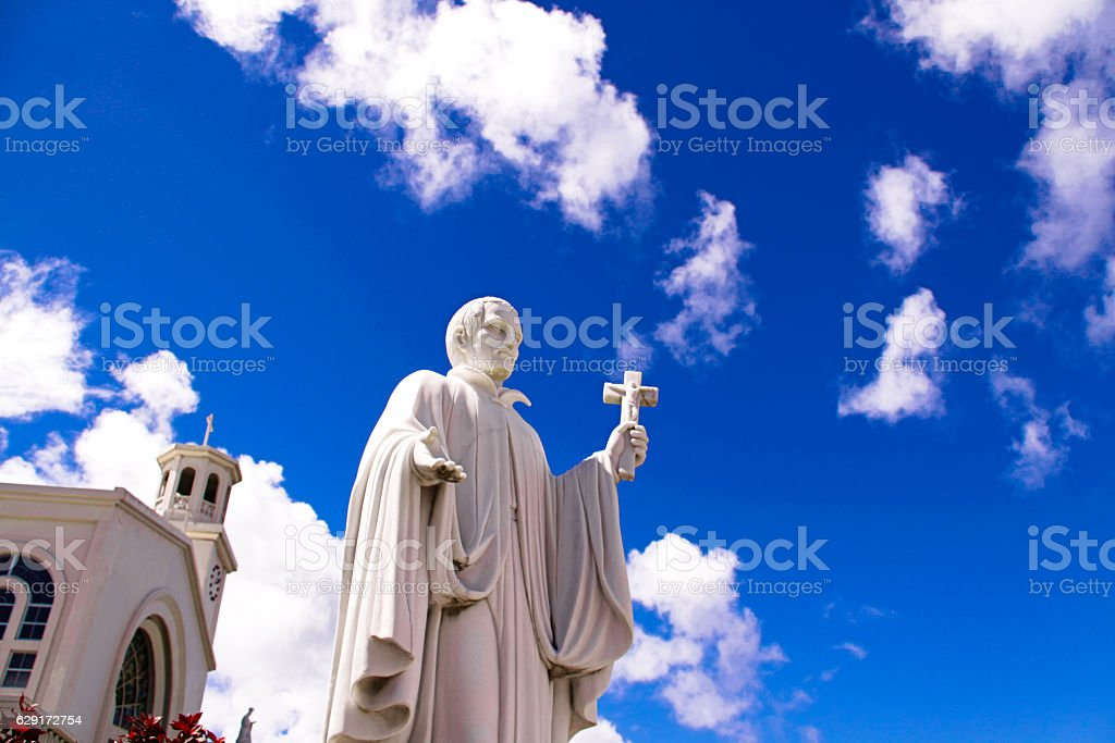HAGANIA cathedral Father in Guam stock photo