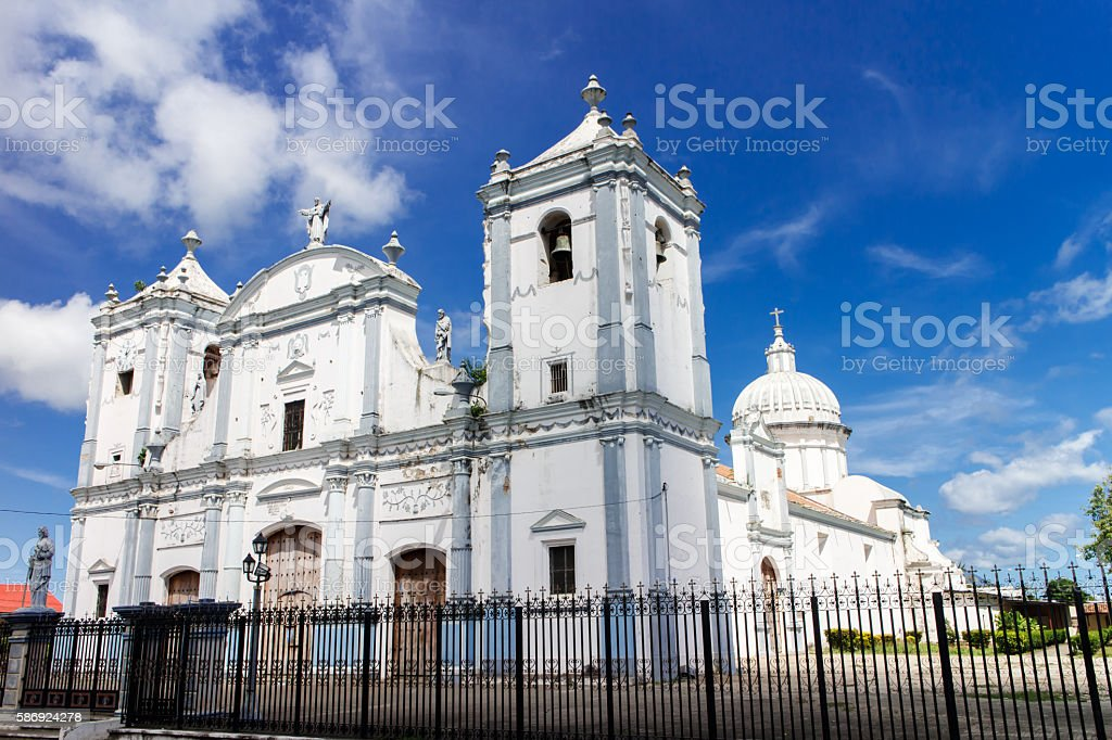 Cathedral from Rivas in Nicaragua, Centralamerica stock photo