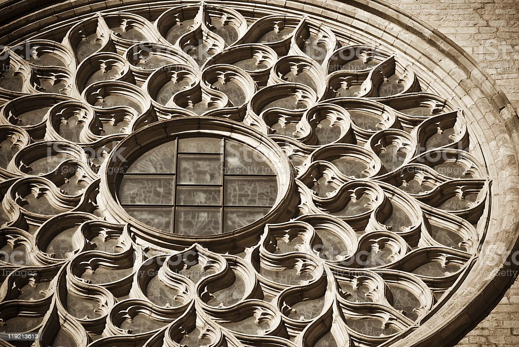 cathedral glass royalty-free stock photo
