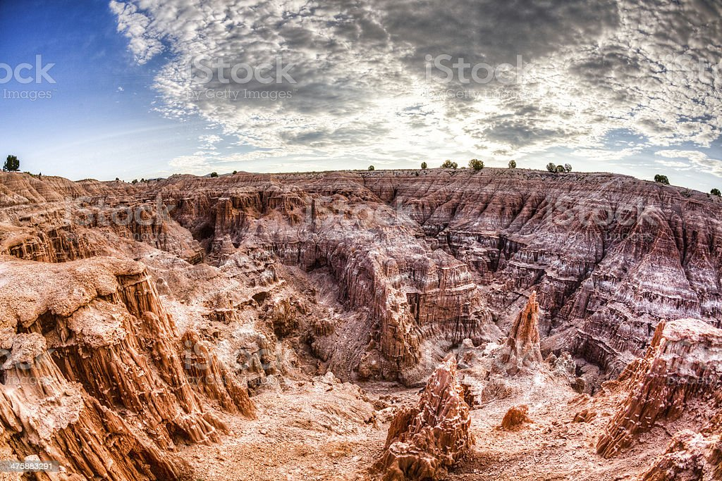 Cathedral Gorge State Park in Nevada, USA royalty-free stock photo