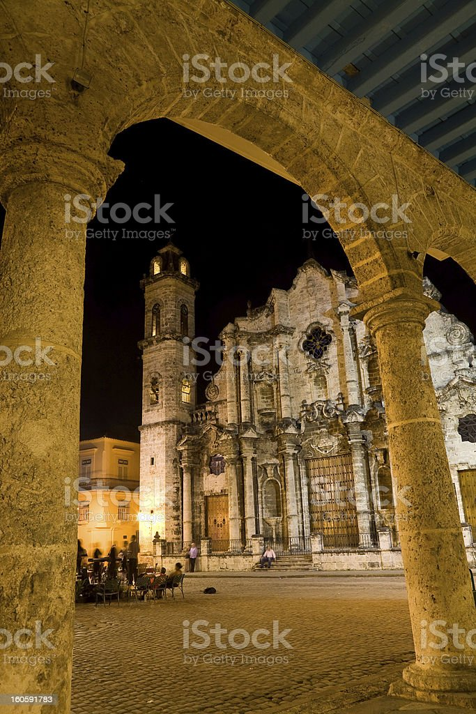 Cathedral, Havana, Cuba royalty-free stock photo