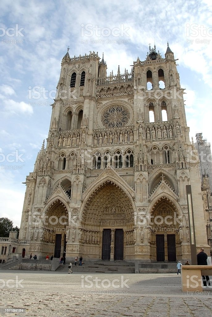 Cathedral in Amiens, France royalty-free stock photo