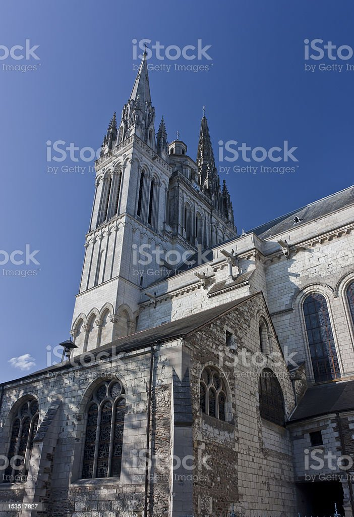 Cathedral in Angers stock photo