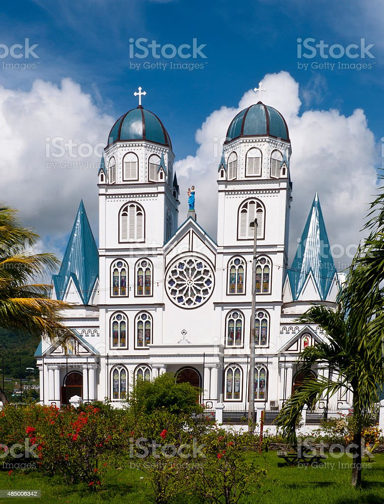 Cathedral in Apia. stock photo
