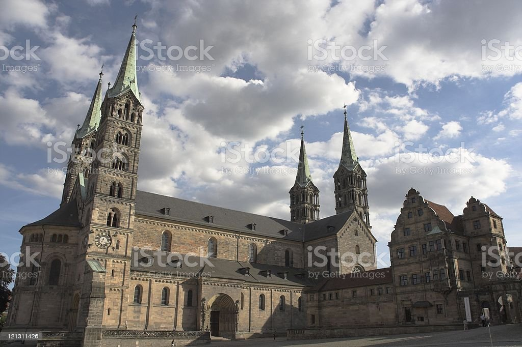 Cathedral in Bamberg stock photo