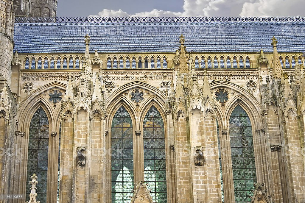Cathedral in Bayeux. Normandy, France royalty-free stock photo