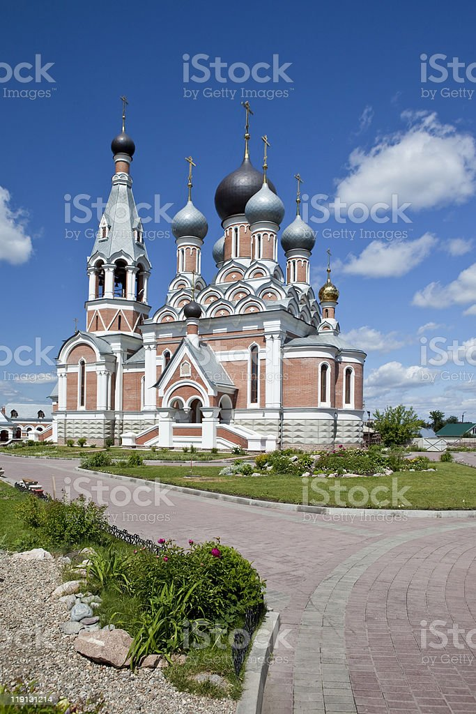 Cathedral in Berdsk stock photo