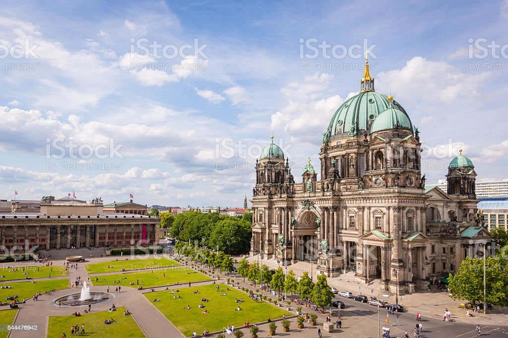 Cathedral in Berlin Germany Aerial View stock photo