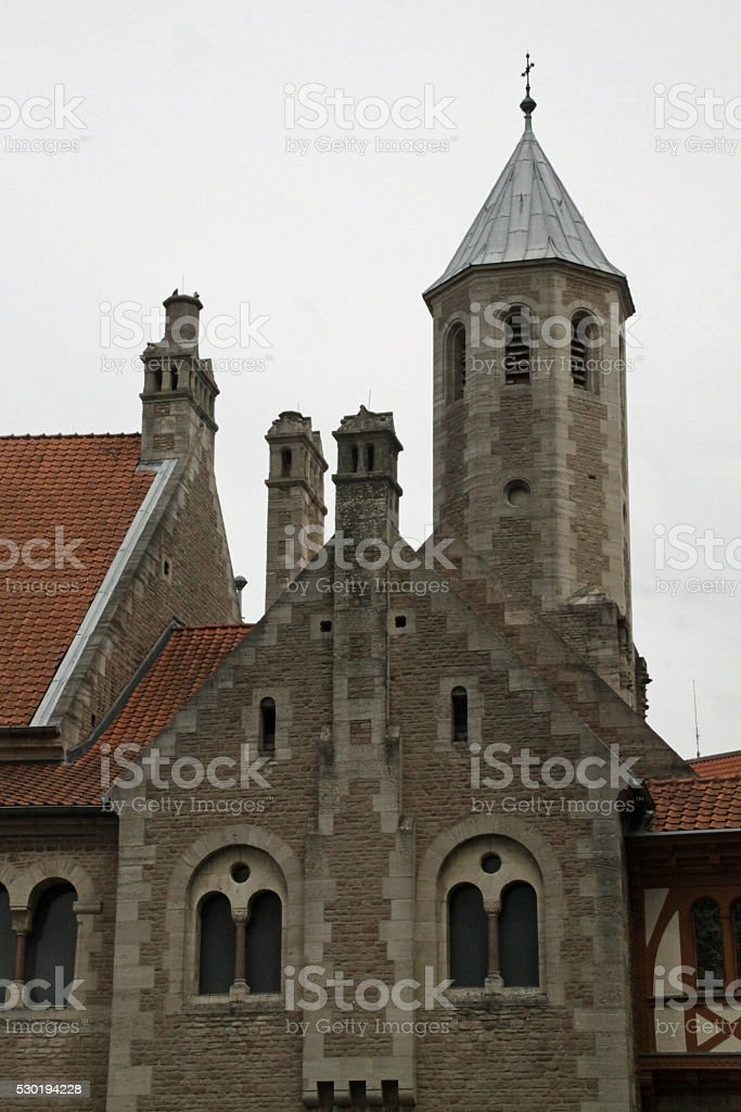 Cathedral in Braunschweig stock photo