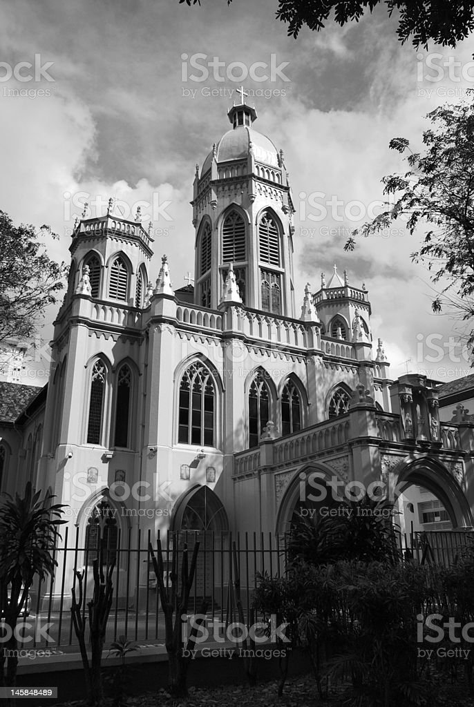Cathedral in Bugis, Singapore City royalty-free stock photo