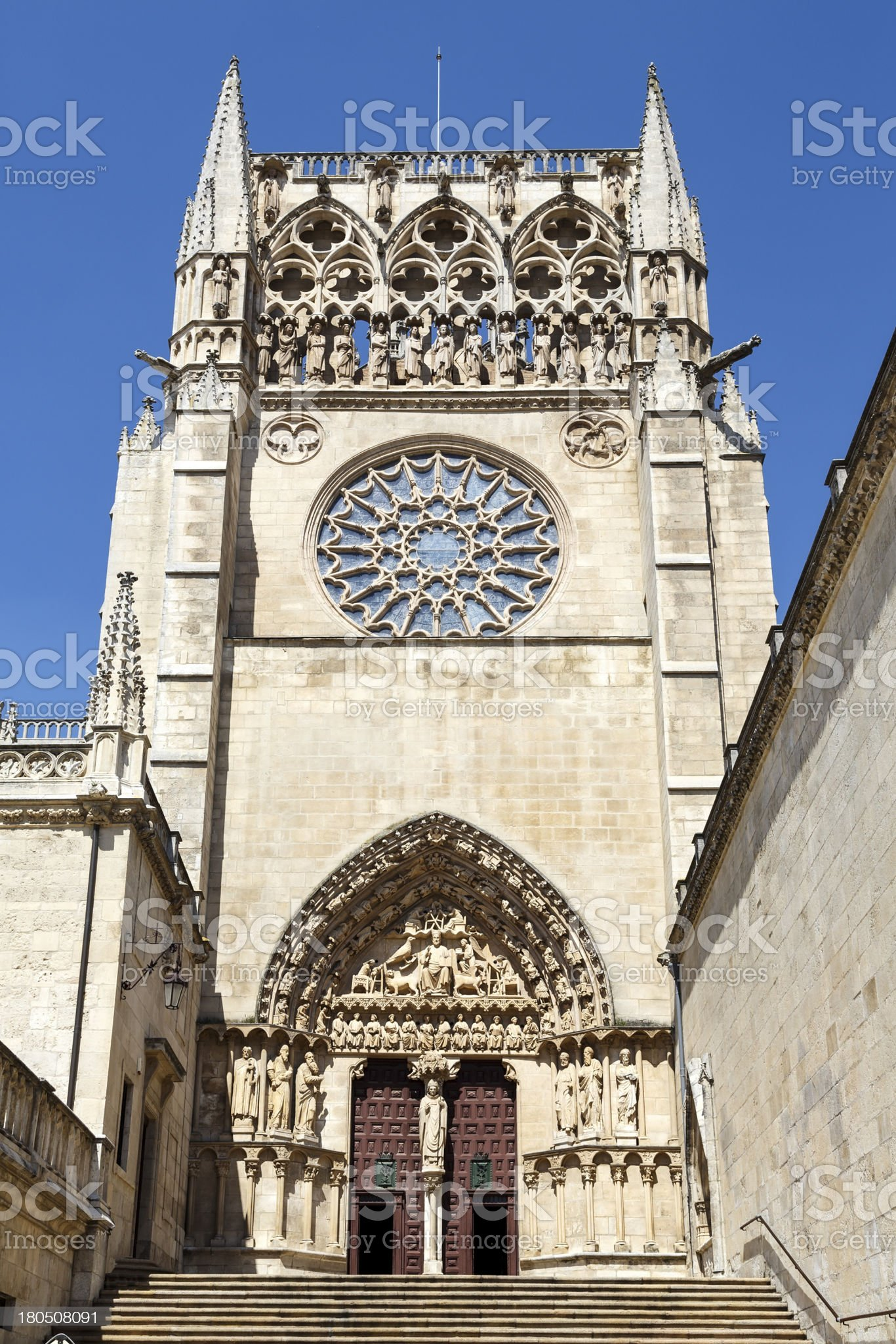 cathedral in Burgos, Spain royalty-free stock photo