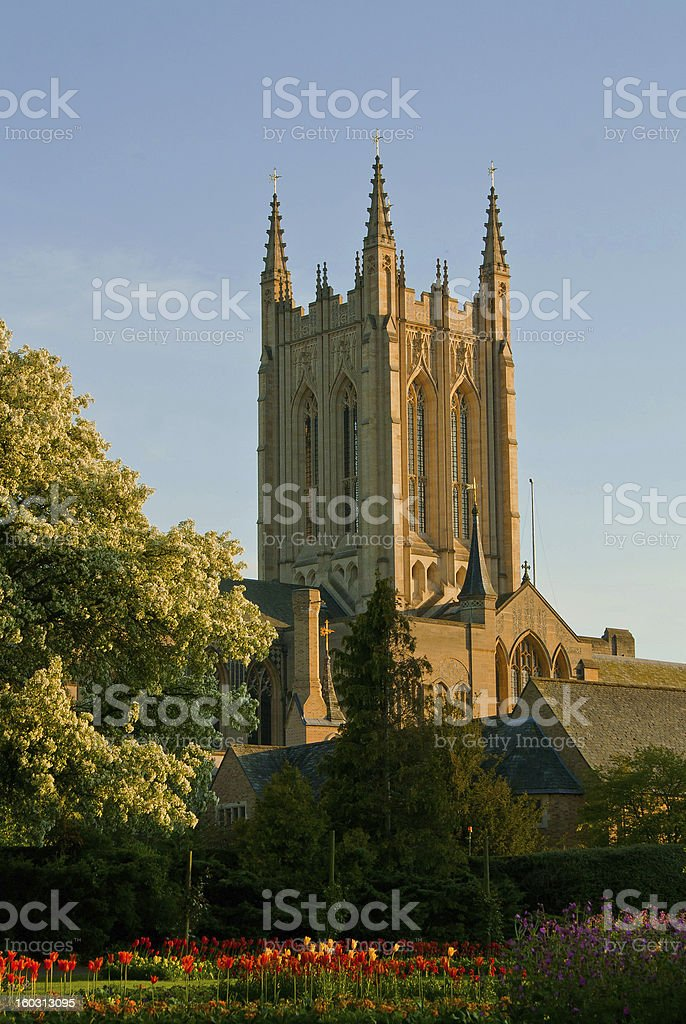 Cathedral in Bury St Edmunds royalty-free stock photo