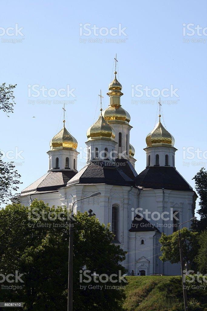 Cathedral in Chernigiv stock photo
