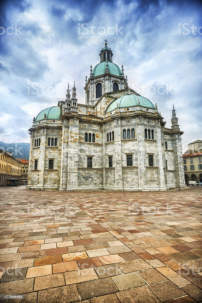 Cathedral in Como, Lombardy, Italy stock photo