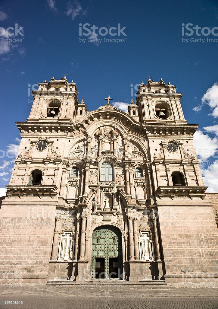Cathedral  in Cusco royalty-free stock photo