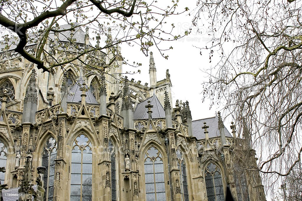 Cathedral in Den Bosch. Netherlands stock photo