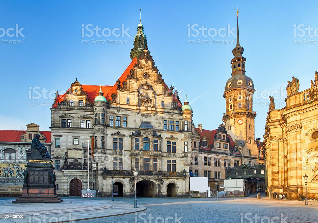 Cathedral in Dresden; Germany, Europe stock photo