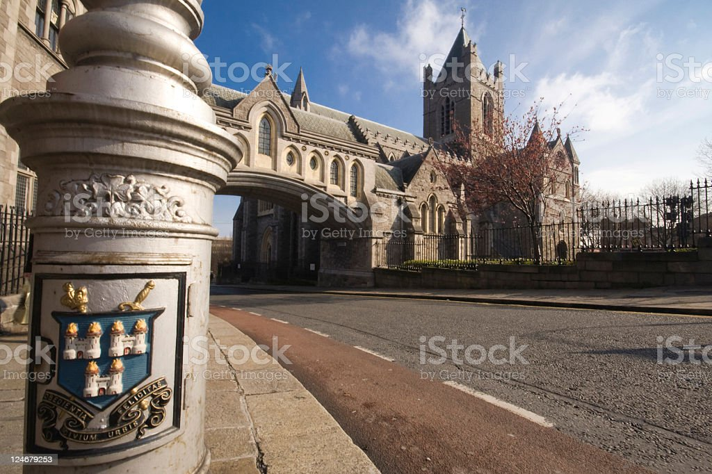 Cathedral in Dublin stock photo