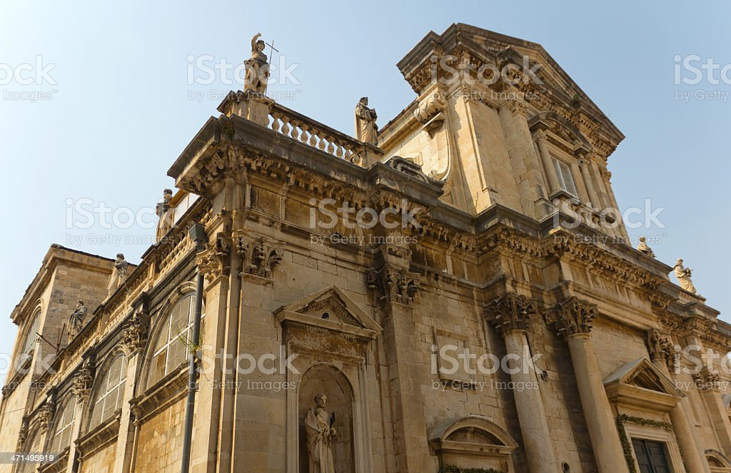 Cathedral in Dubrovnik, Croatia royalty-free stock photo