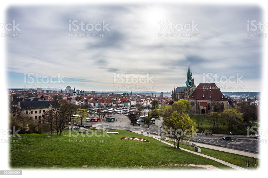 Dom in Erfurt stock photo