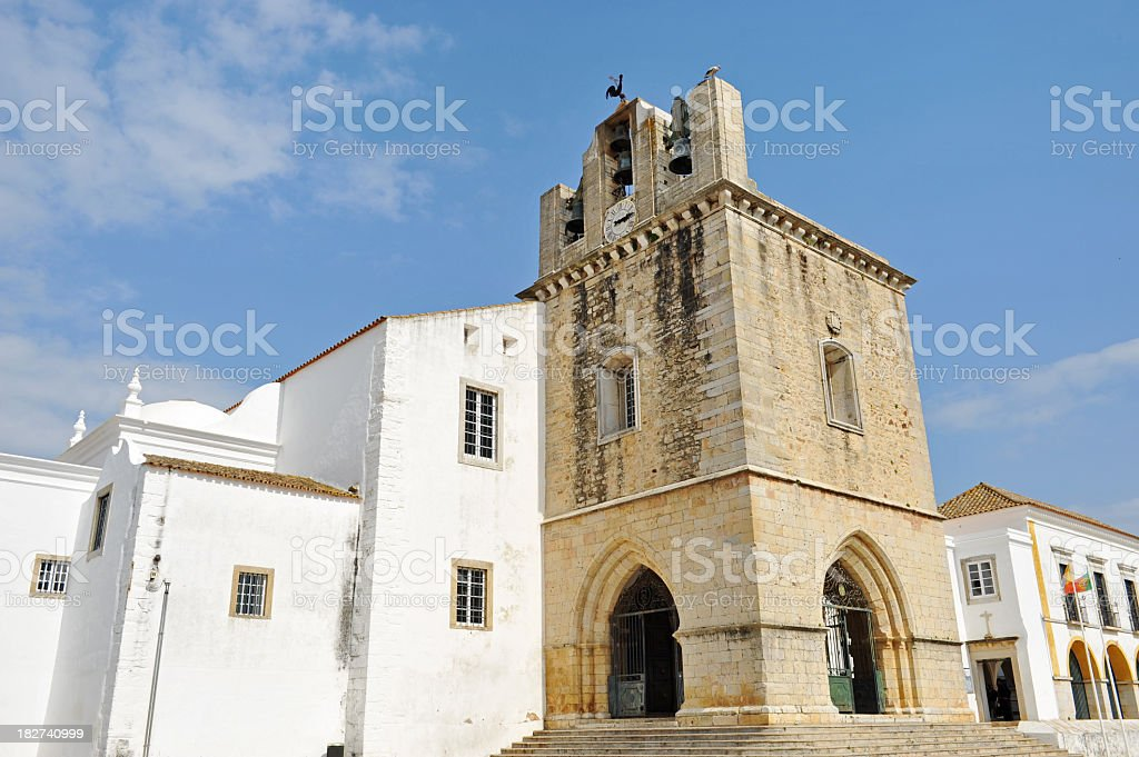 Cathedral in Faro stock photo