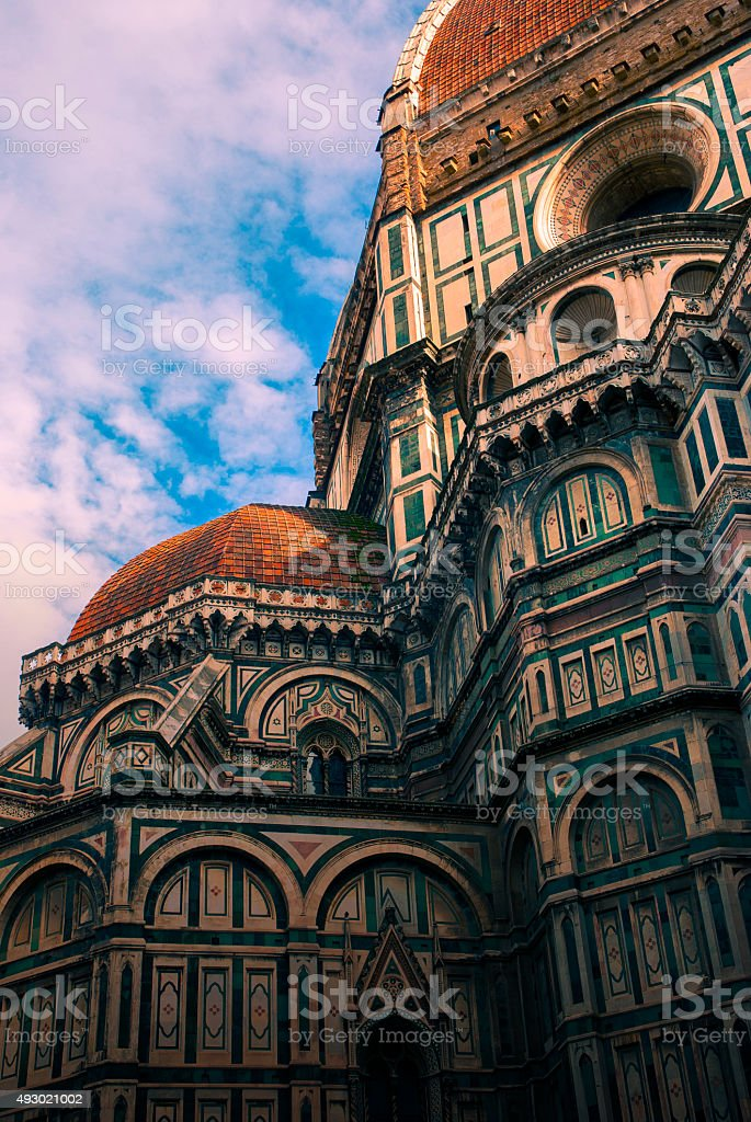 Cathedral in Florence stock photo