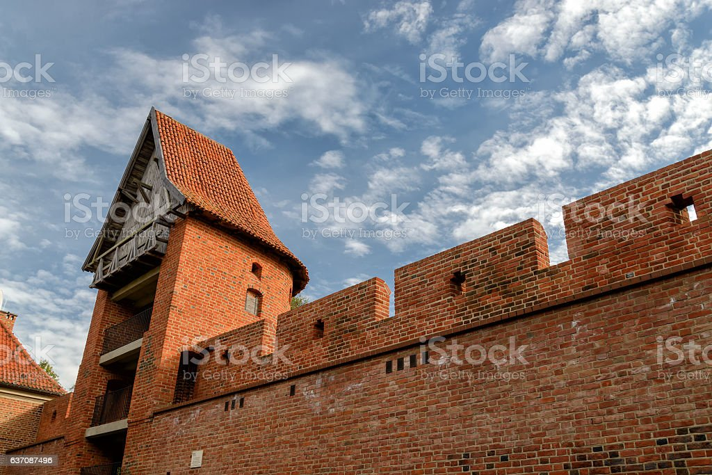 Cathedral in Frombork stock photo