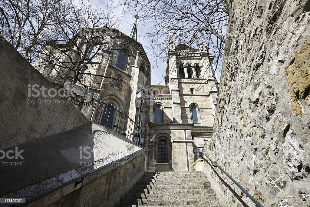 Cathedral in Geneva royalty-free stock photo