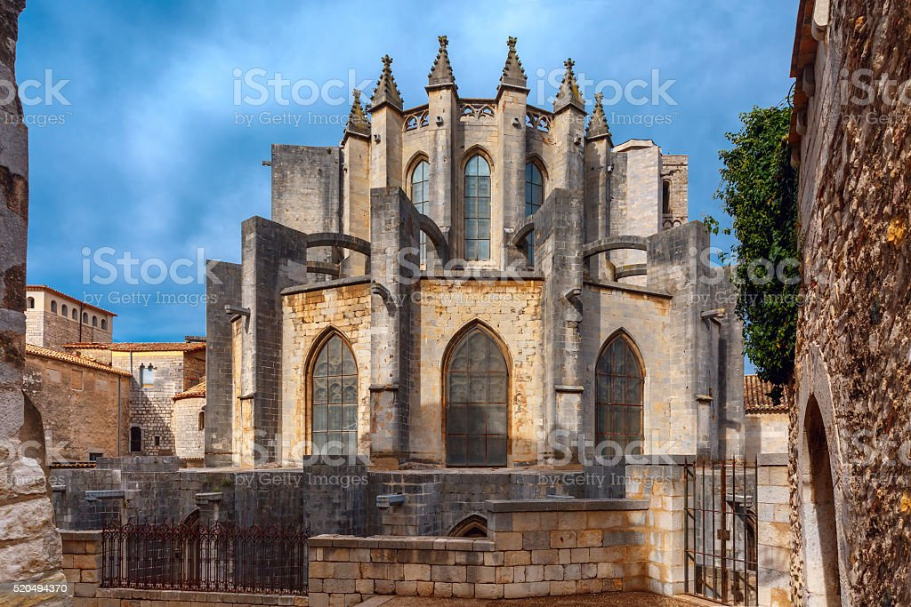 Cathedral in Girona, Catalonia, Spain stock photo
