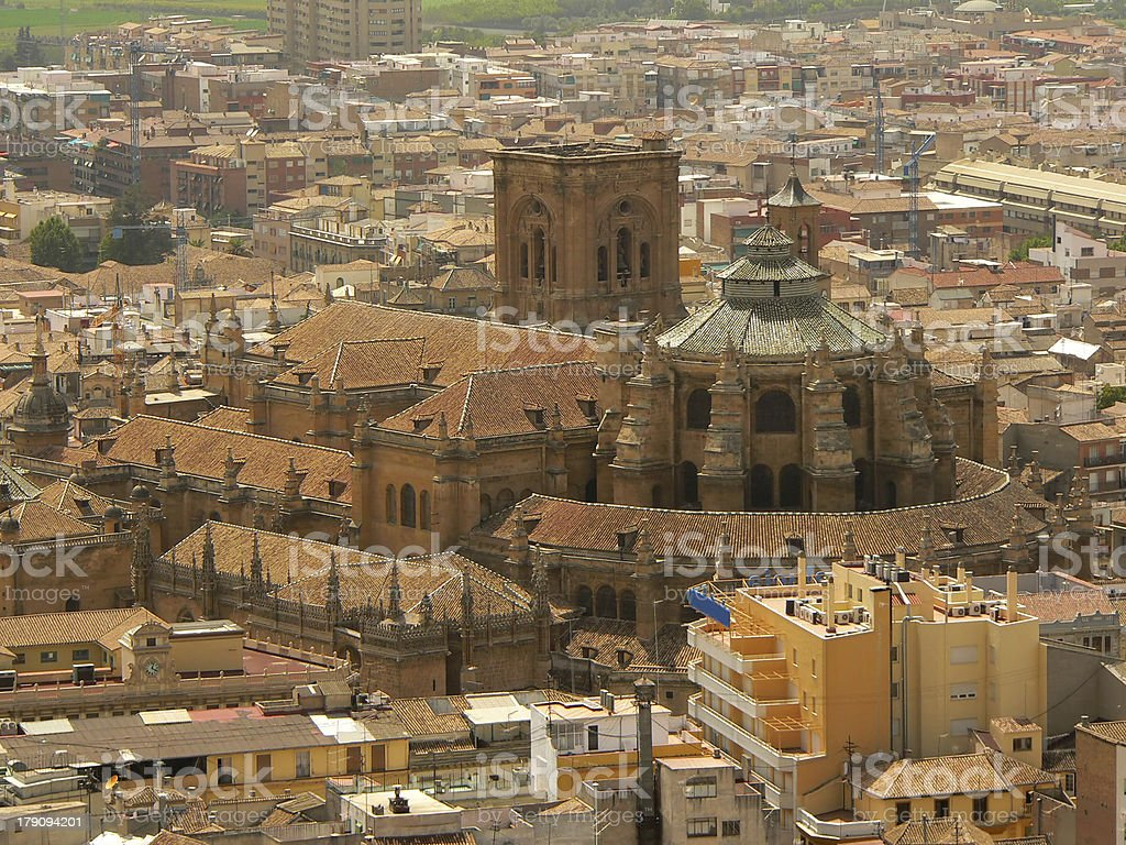 Cathedral in Granada stock photo