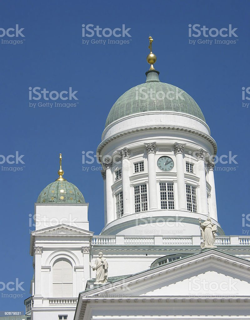 Cathedral in Helsinki royalty-free stock photo