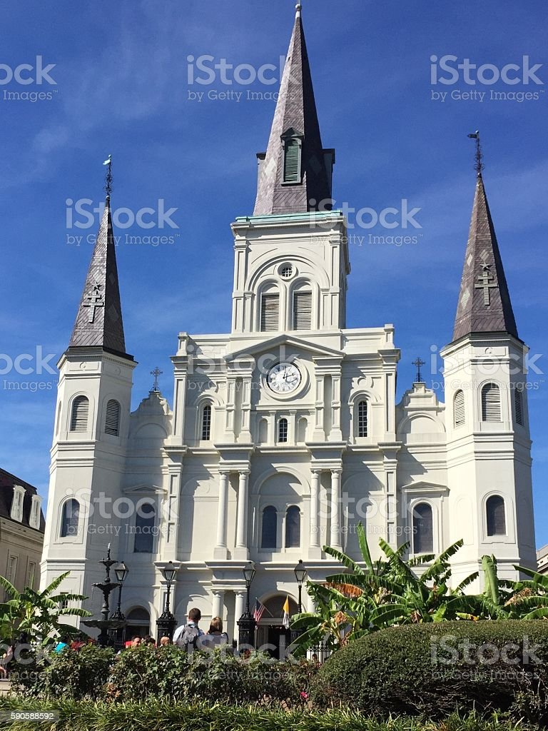 cathedral in jackson stock photo