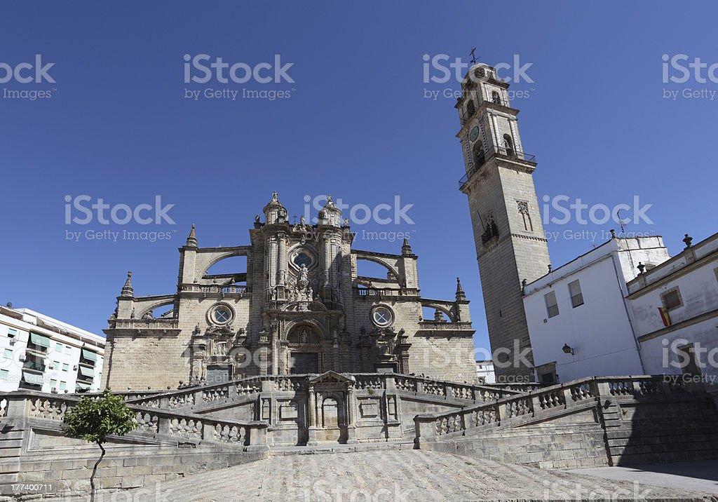 Cathedral in Jerez de la Frontera, Spain stock photo