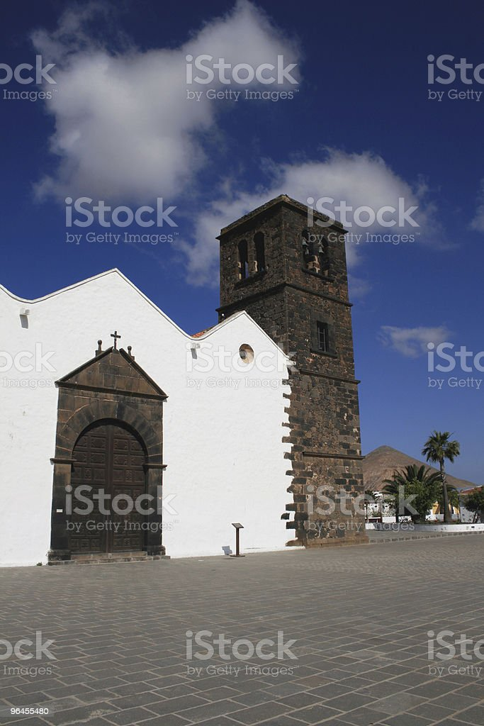 Cathedral in La Oliva, Fuerteventura stock photo