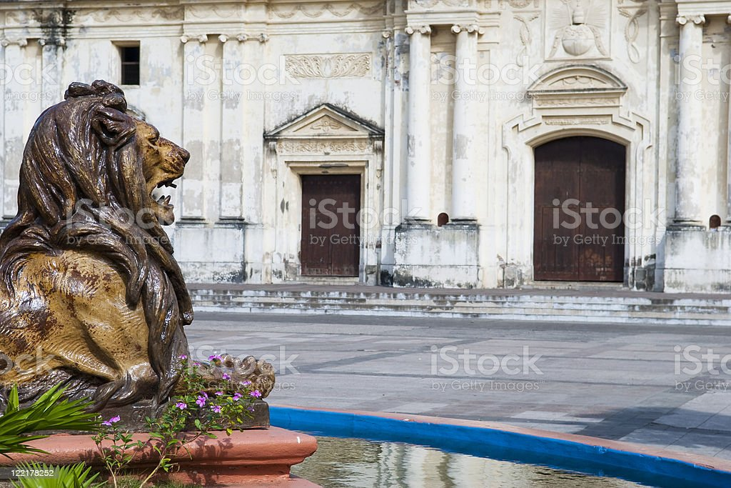 Cathedral in Leon, Nicaragua stock photo