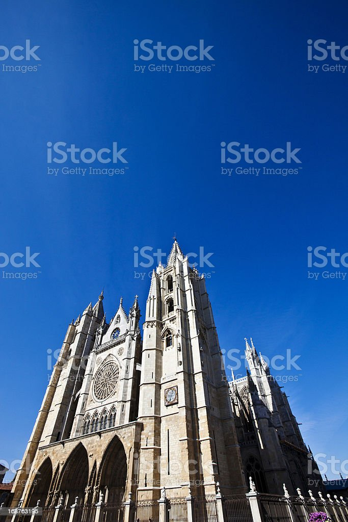 Cathedral in Leon. stock photo