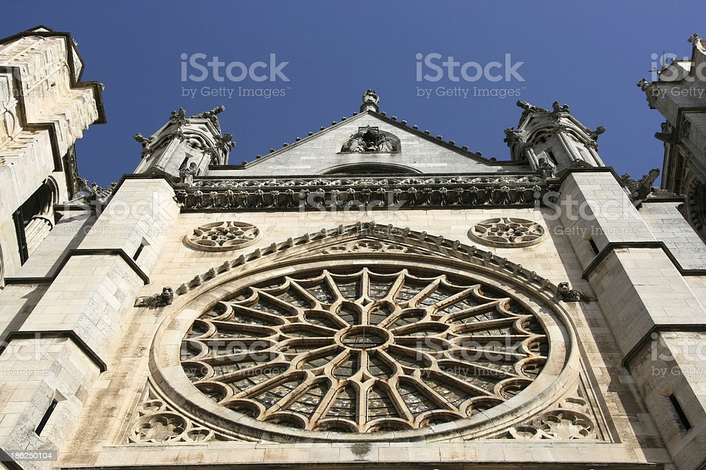 Cathedral in Leon, Spain stock photo