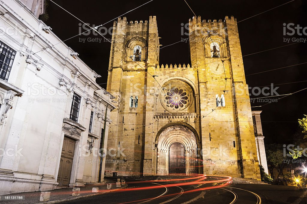 Sé Cathedral in Lisbon royalty-free stock photo