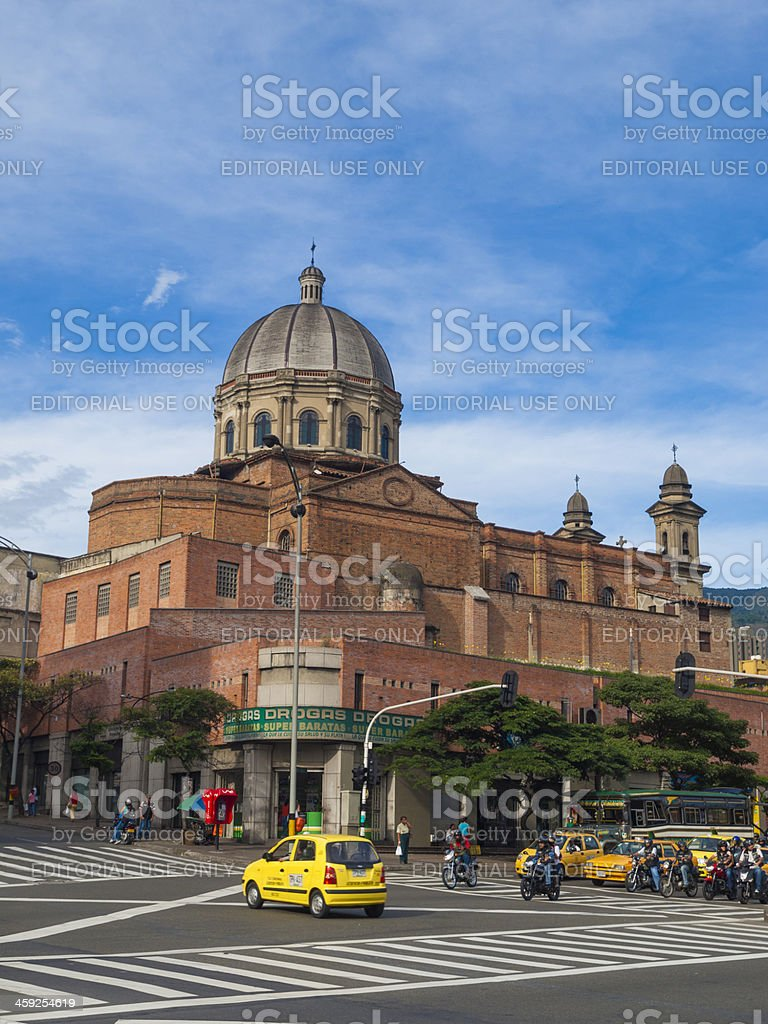 Cathedral in Medellin, Colombia stock photo