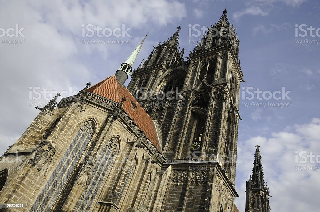 Cathedral in Mei?en, Germany royalty-free stock photo