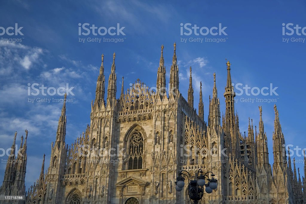 Cathedral in Milan royalty-free stock photo
